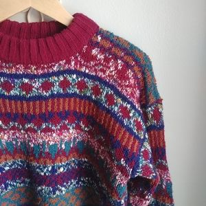 VINTAGE // Marled Fisherman Sweater